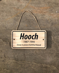 Hooch large plaque