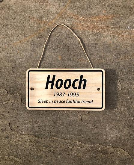 Simple Memorial Plaque (Large)
