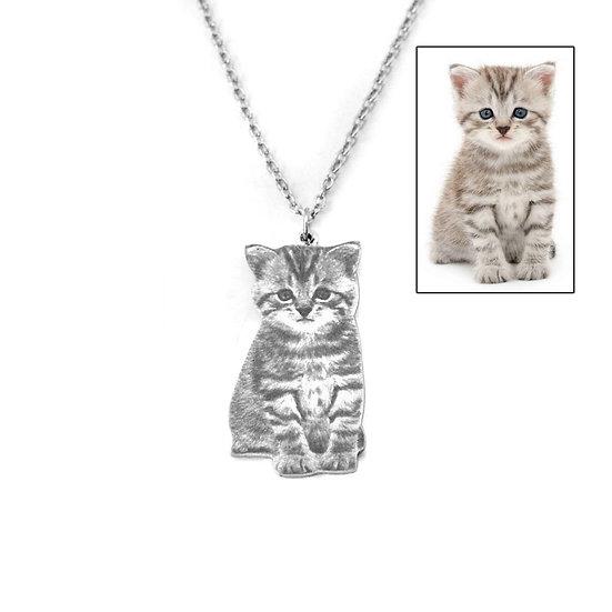 Pet Photo Necklace - Memorial Keepsake