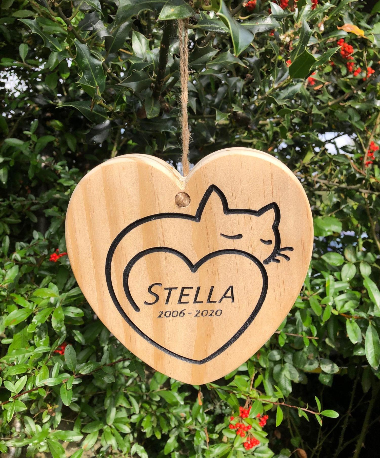 Stella the Cat - Memorial Plaque