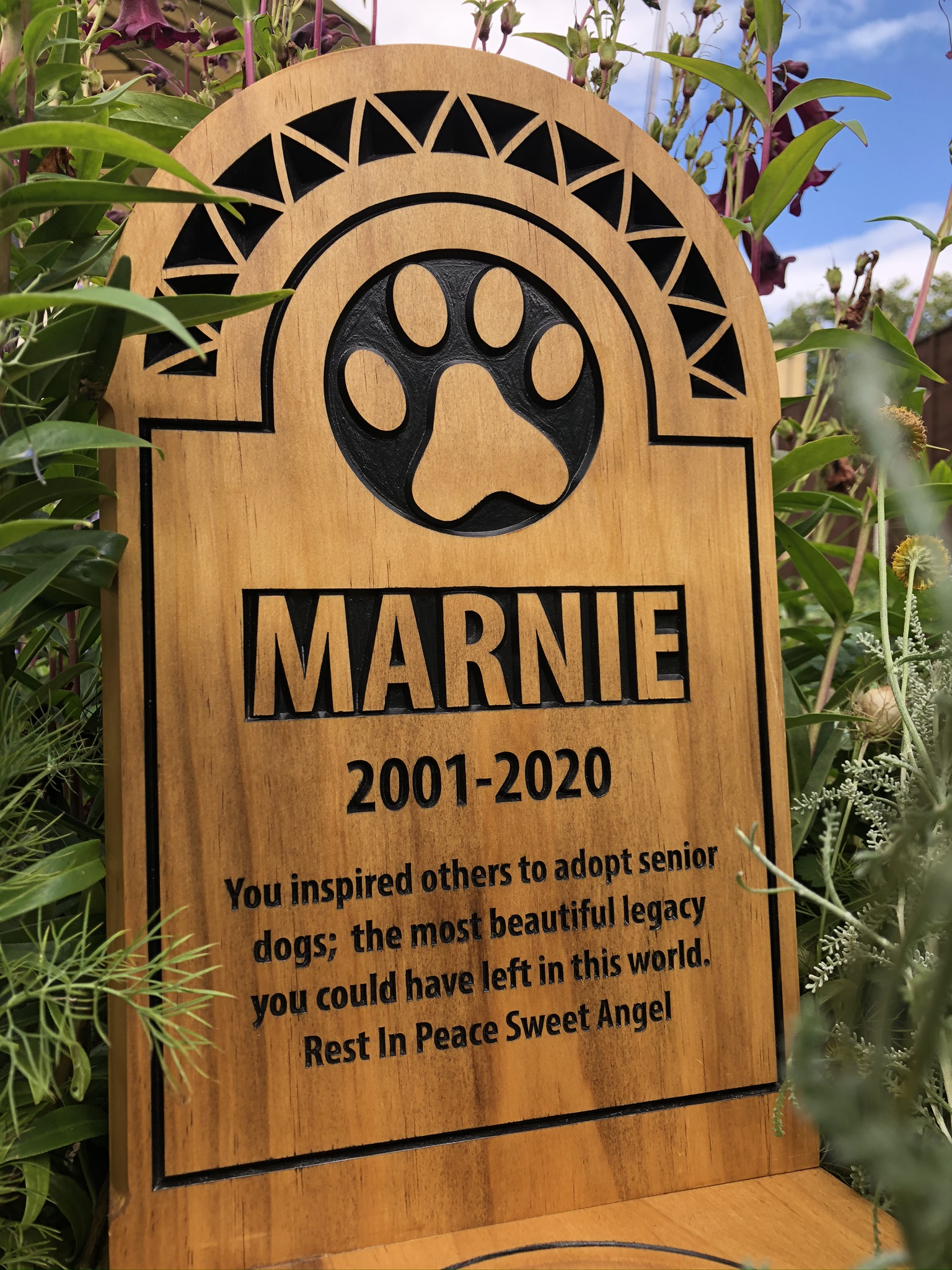 Marnie the Cat - Large Headstone