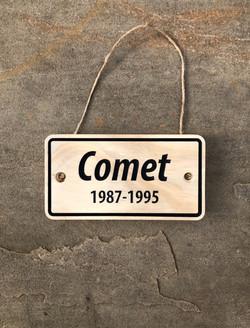 Comet standard plaque
