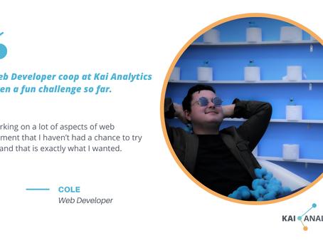 Meet Cole, the Web Developer at Kai Analytics