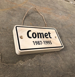 Comet simple plaque standard