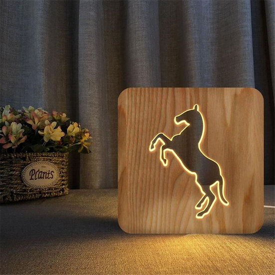 Horse Silhouette Night Light - Memorial Keepsake