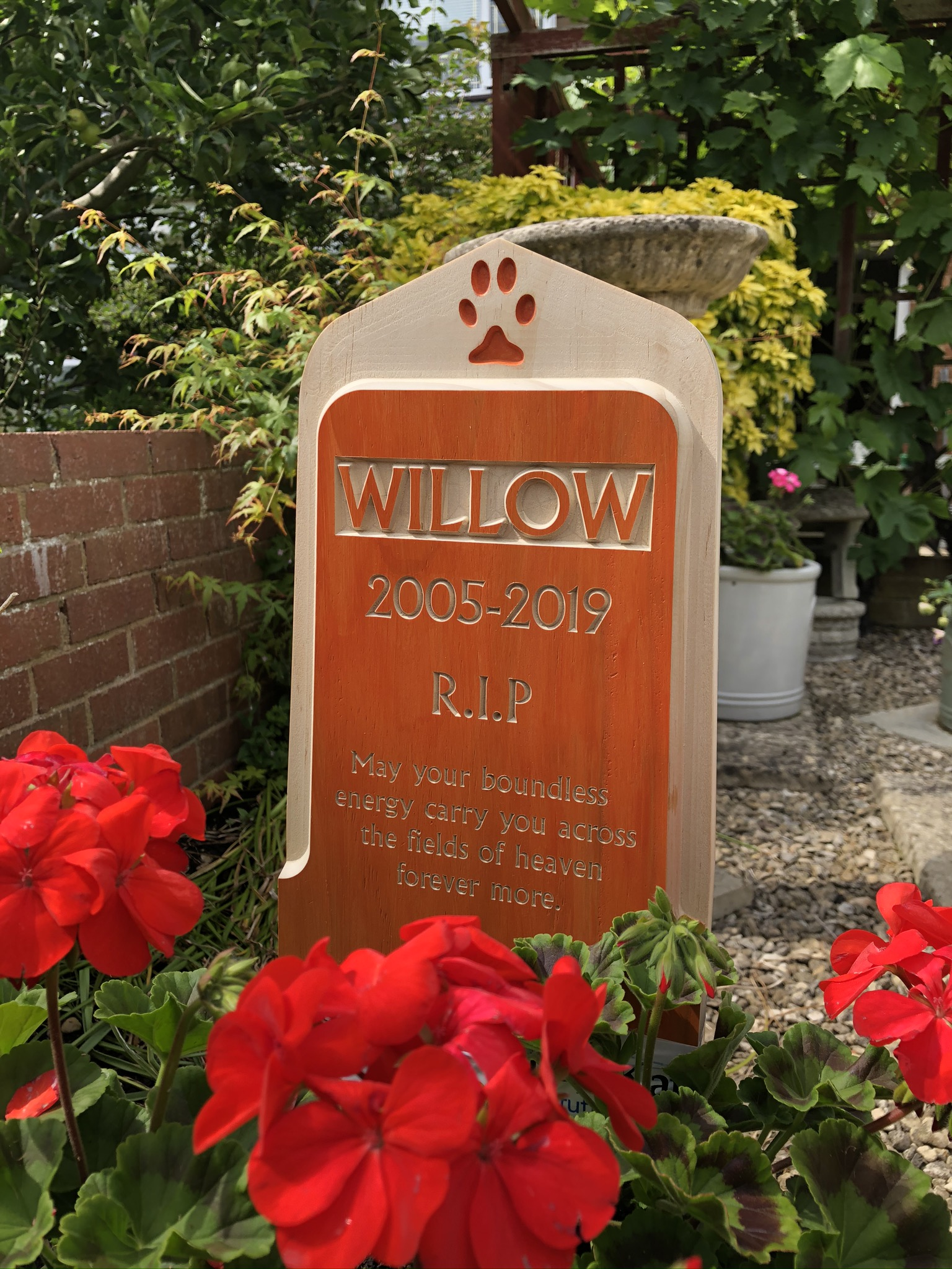 Pet Memorial - Recessed Collection - Large Staked