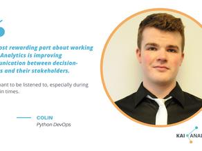 Meet Colin, Python DevOps at Kai Analytics
