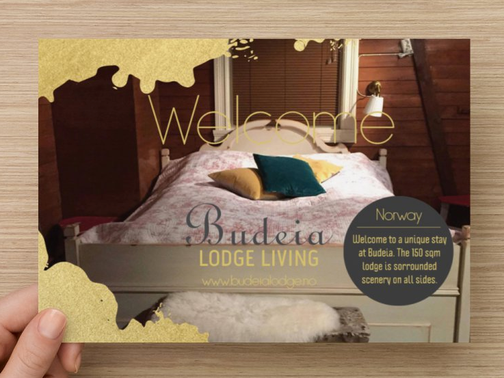 Flyers and businesscard to Budeia Lodge Living