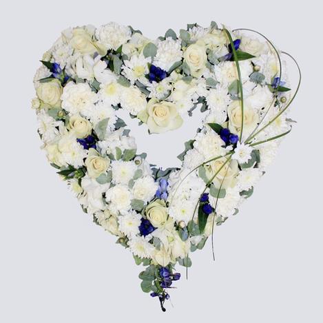 Åpen hjerte hvit