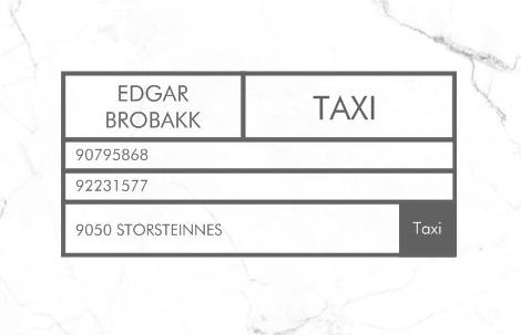 Edgar Brobakk taxi