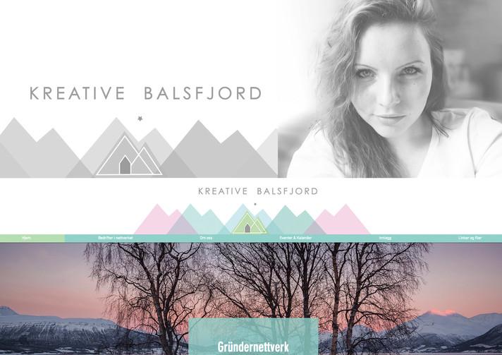 Grafisk Design - Hjemmeside og Logo til Kreative Balsfjord