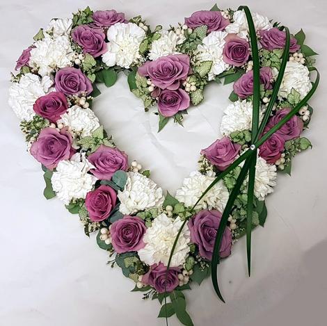 Åpen hjerte rosa