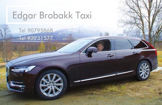 Visittkort til Edgar Brobakk Taxi