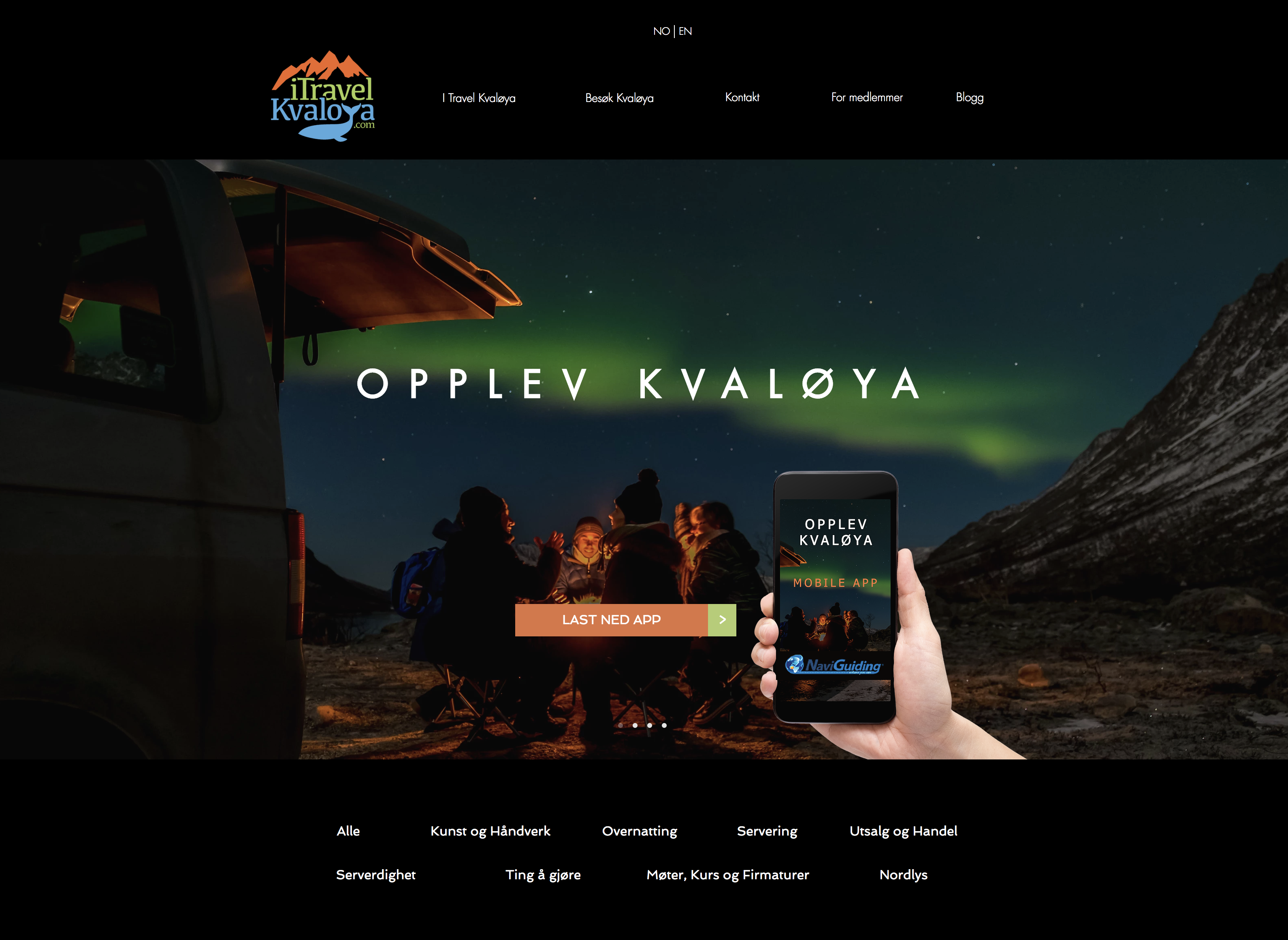 Hjemmeside I Travel Kvaløya