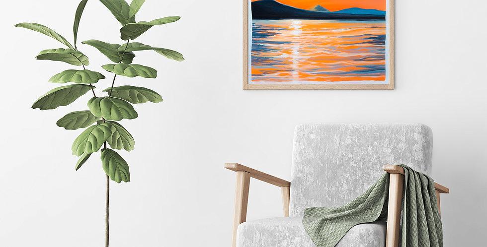 """Kunsttrykk - Digigraphie """" Sunset"""""""