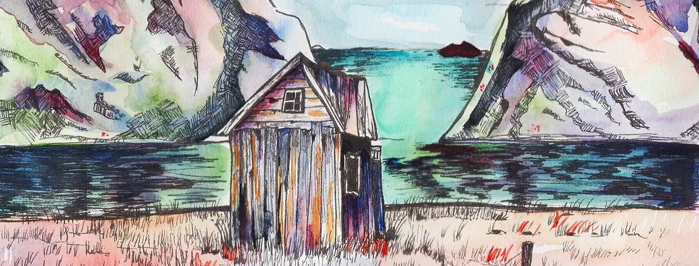 Print - Den lille hytta