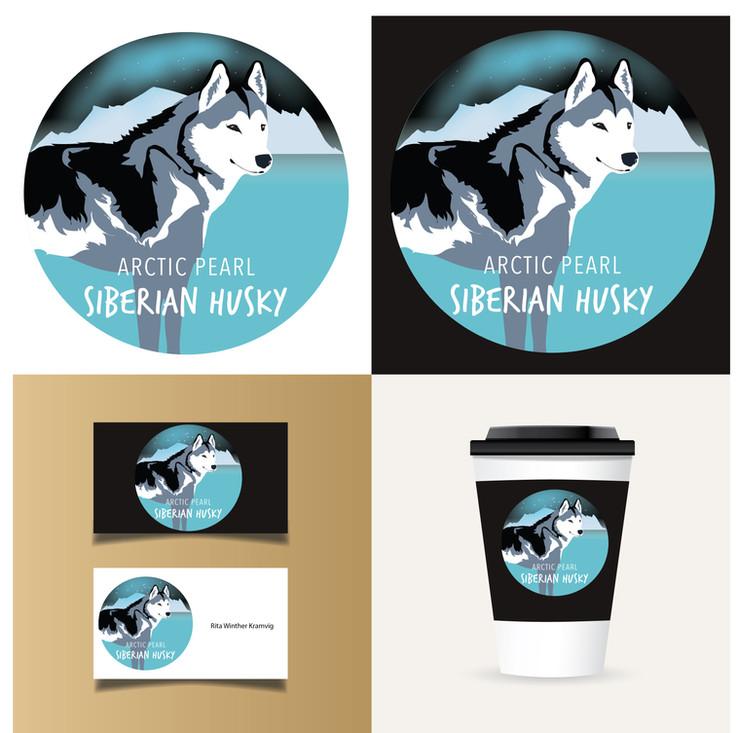 Logooppdrag for Arctic Pearl Siberian Husky