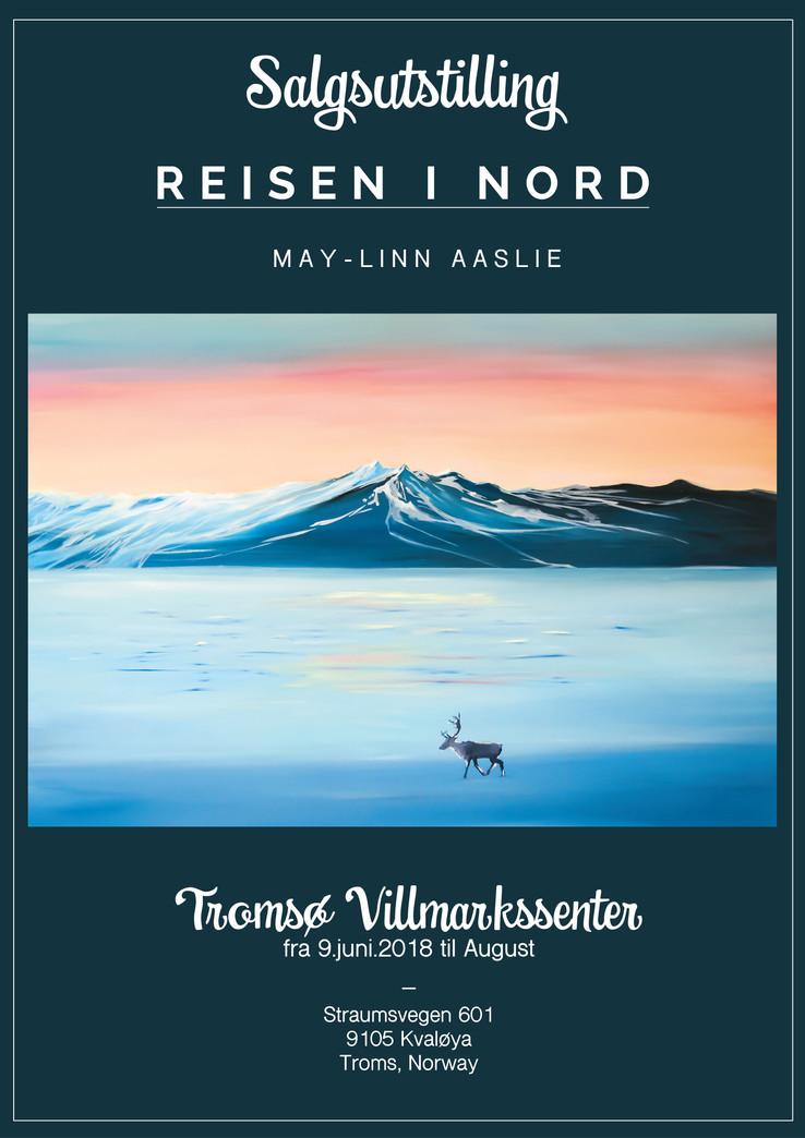 """Salgsutstilling """"Reisen i Nord"""" på Tromsø Villmarkssenter 9.juni."""