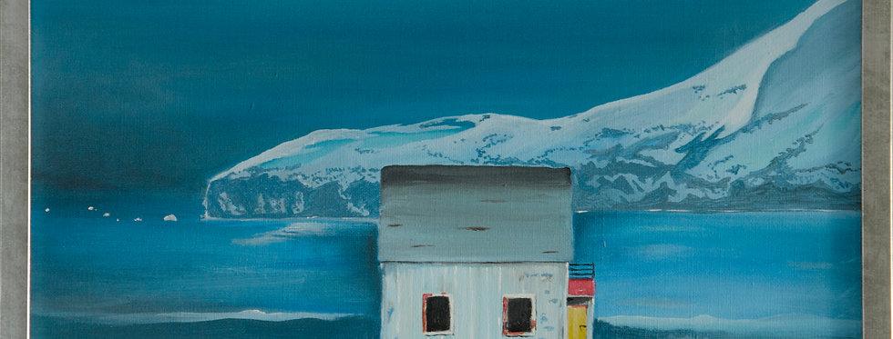 Værbitt ensomhet på Hasvik - Maleri