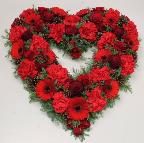 Åpen hjerte rød