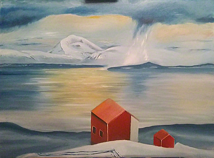 Tromsømaleri under prosess-Videoblogg