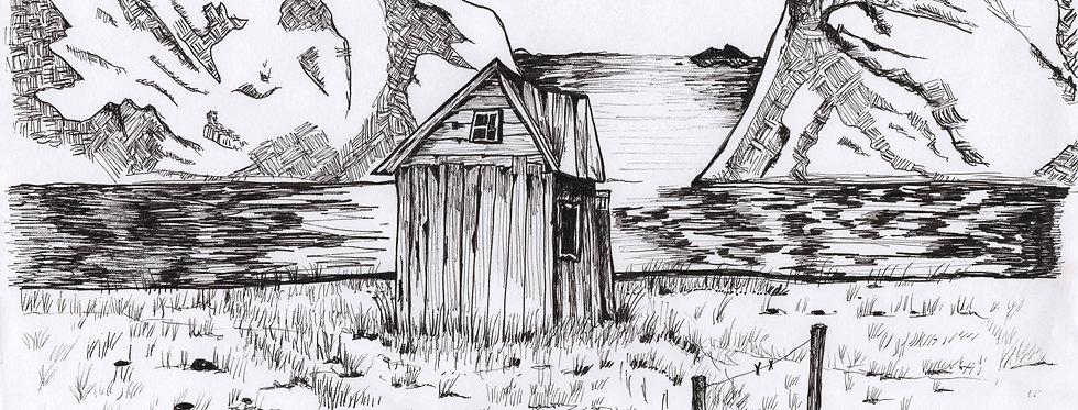 Den lille hytta Tegning