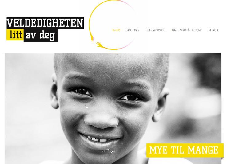 Logo og hjemmeside til Veldedigheten