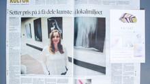 Kunstutstilling i avisa Nye Troms