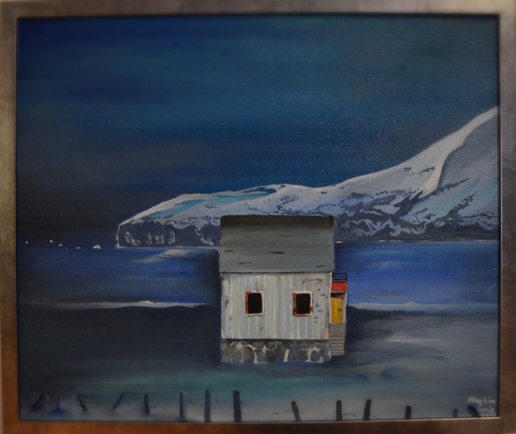 Værbitt ensomhet og trykk har fått seg nye hjem i Tromsø. Painting have got new home in Tromsø :D