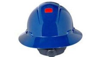 3M™ Full Brim Hard Hat H-810V-UV, Navy Blue 4-Point Ratchet Suspension, Vented