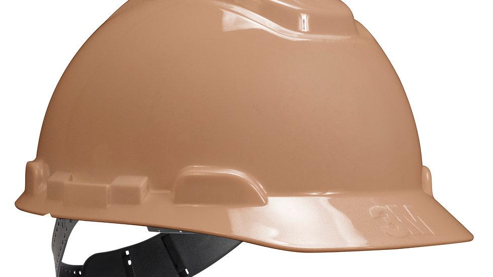 3M™ Hard Hat H-711P, Tan, 4-Point Pinlock Suspension, 20 EA/Case