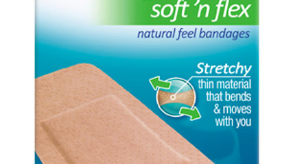 Nexcare™ Soft 'n Flex Bandages 571-08, 2 in x 4 in (50 mm x 101 mm)