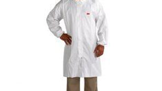 3M™ Disposable Lab Coat with Zip 4440-L White, 50 EA/Case