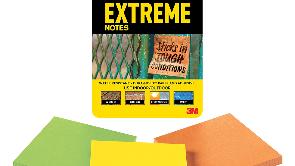 Post-it® Extreme Notes EXTRM33-3TRYMX, 3 in x 3 in (76 mm x 76 mm)
