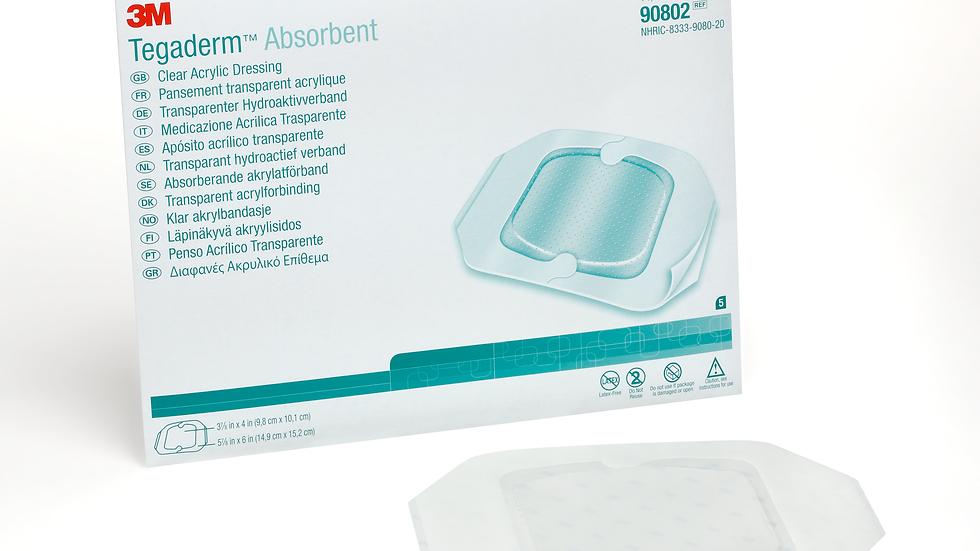 "3M™ Tegaderm™ Absorbent Clear Acrylic Dressing 90802, Medium Oval, 5 7/8"" x 6"""