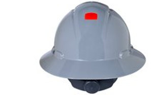 3M™ Full Brim Hard Hat H-808V-UV, Gray 4-Point Ratchet Suspension