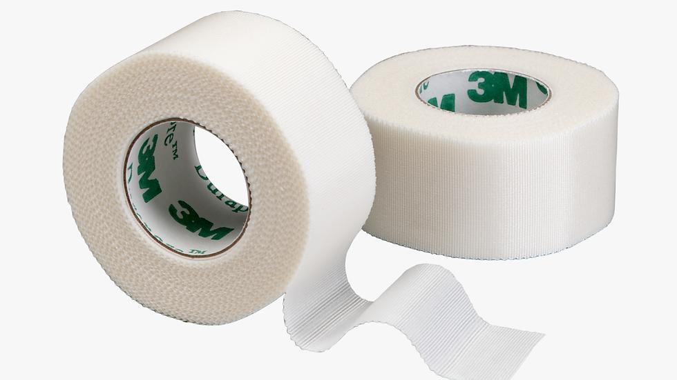 3M™ Durapore Surgical Tape 1538-1, 1 inch x 10 yard (2,5cm x 9,1m) 12 Rolls/Box