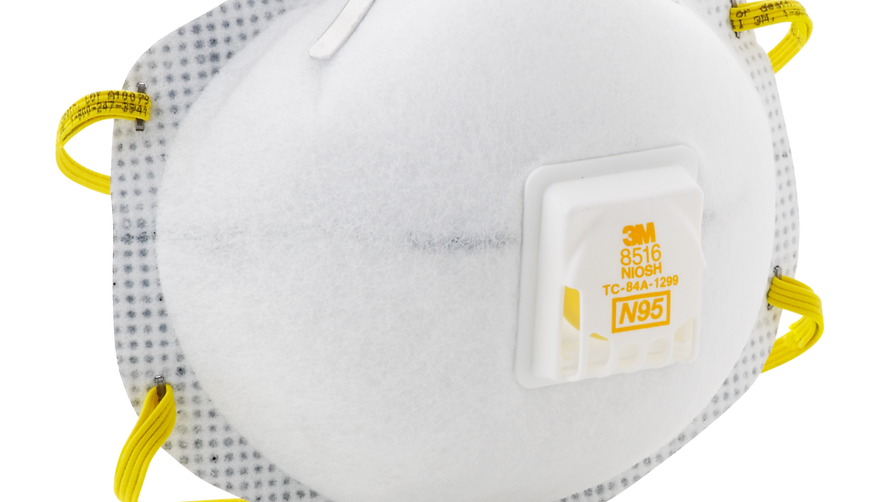3M™ Particulate Respirator 8516, N95, with Nuisance Level Acid Gas Relief