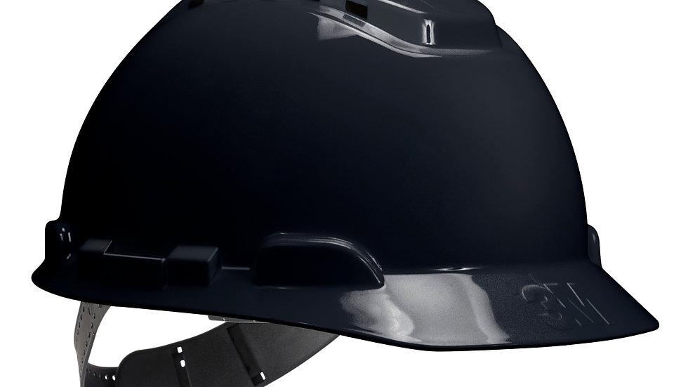 3M™ Hard Hat H-712P, Black, 4-Point Pinlock Suspension, 20 EA/Case