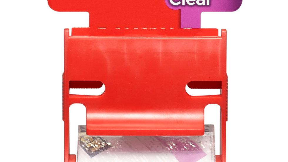 Scotch® Ultra Clear Mailing Packaging Tape w/dispenser 141, 1.88 in x 800 in
