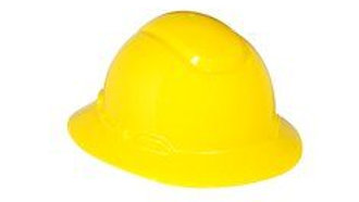 3M™ Full Brim Hard Hat H-802R, Yellow 4-Point Ratchet Suspension, 20 EA/Case