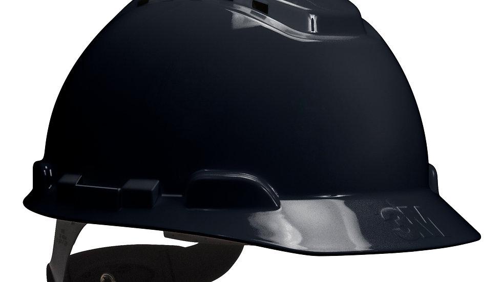 3M™ Hard Hat H-712V, Black, 4-Point Ratchet Suspension, Vented, 20 EA/Case
