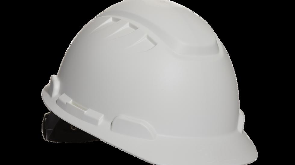 3M™ Elevated Temperature Hard Hat H-701T, White, 4-Point Ratchet Suspension