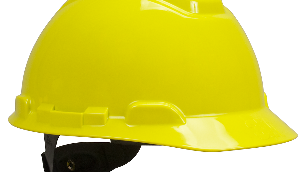 3M™ Hard Hat H-709R, Bright Yellow 4-Point Ratchet Suspension, 20 EA/Case