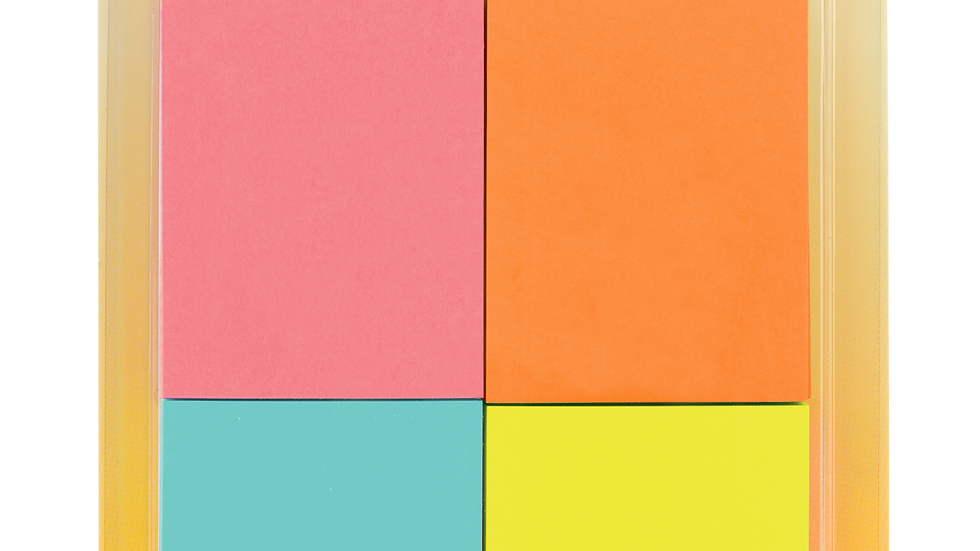 Post-it® Notes 653-4AF, 1-3/8 in x 1-7/8 in (34,9 mm x 47,6 mm)