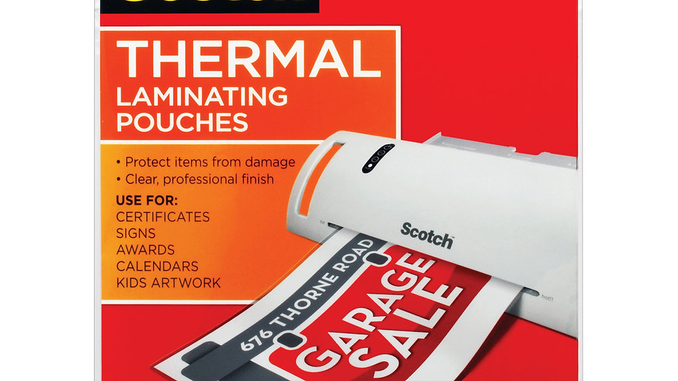 Scotch™ Thermal Pouches TP3854-20 Letter size