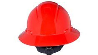3M™ Full Brim Hard Hat H-805R-UV, Red 4-Point Ratchet Suspension, with