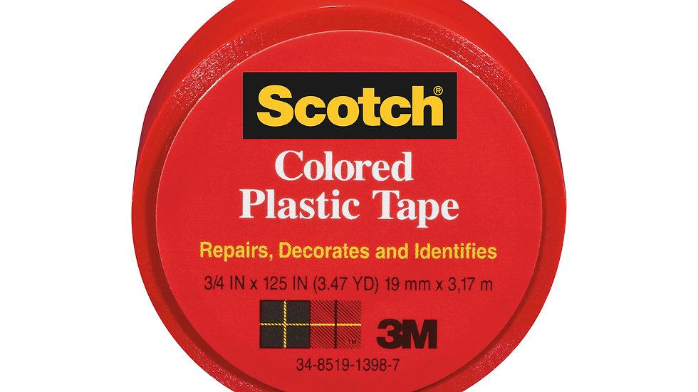 Scotch® Colored Plastic Tape 190RD, 3/4 in x 125 in (19 mm x 3,17 m)