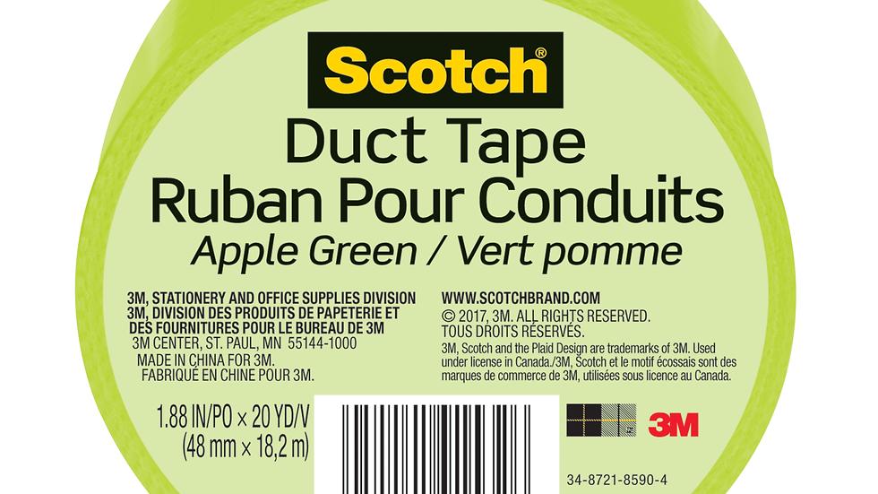 Scotch® Duct Tape 920-GRN-C, 1.88 in x 20 yd (48 mm x 18,2 m), Green