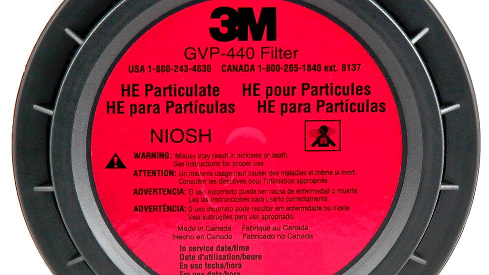 3M™ High Efficiency Particulate Filter (HE) GVP-440, for use with